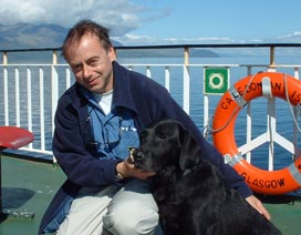 Picture of Mandy and John on the Ferryboat at Arran