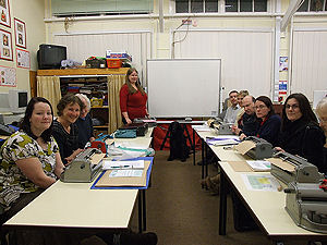 Picture of the Tuesday night Braille class
